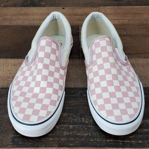ceed0a9e72 Vans Shoes - Vans Slip-On Zephyr Pink   White Checkered Shoes